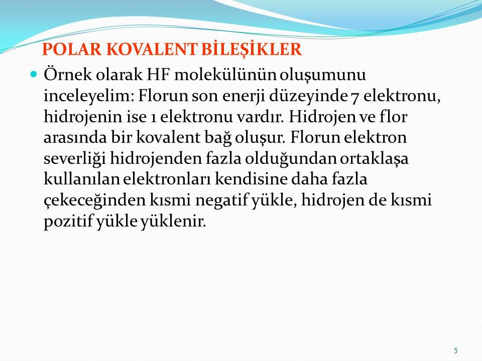 POLAR KOVALENT BİLEŞİKLER