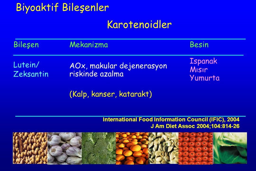 Biyoaktif Bileşenler Karotenoidler