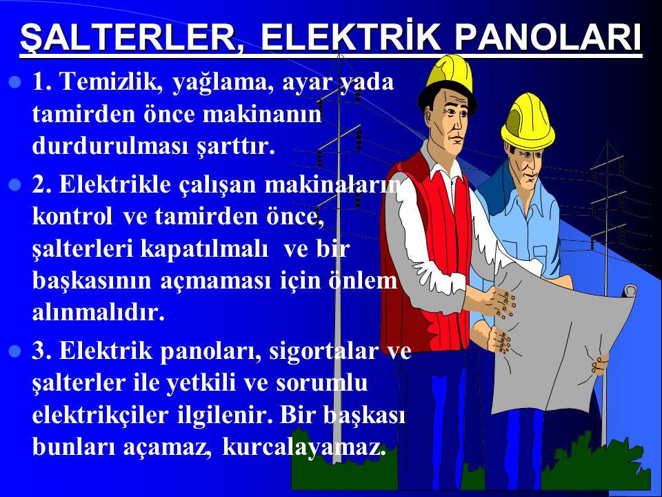 ŞALTERLER, ELEKTRİK PANOLARI