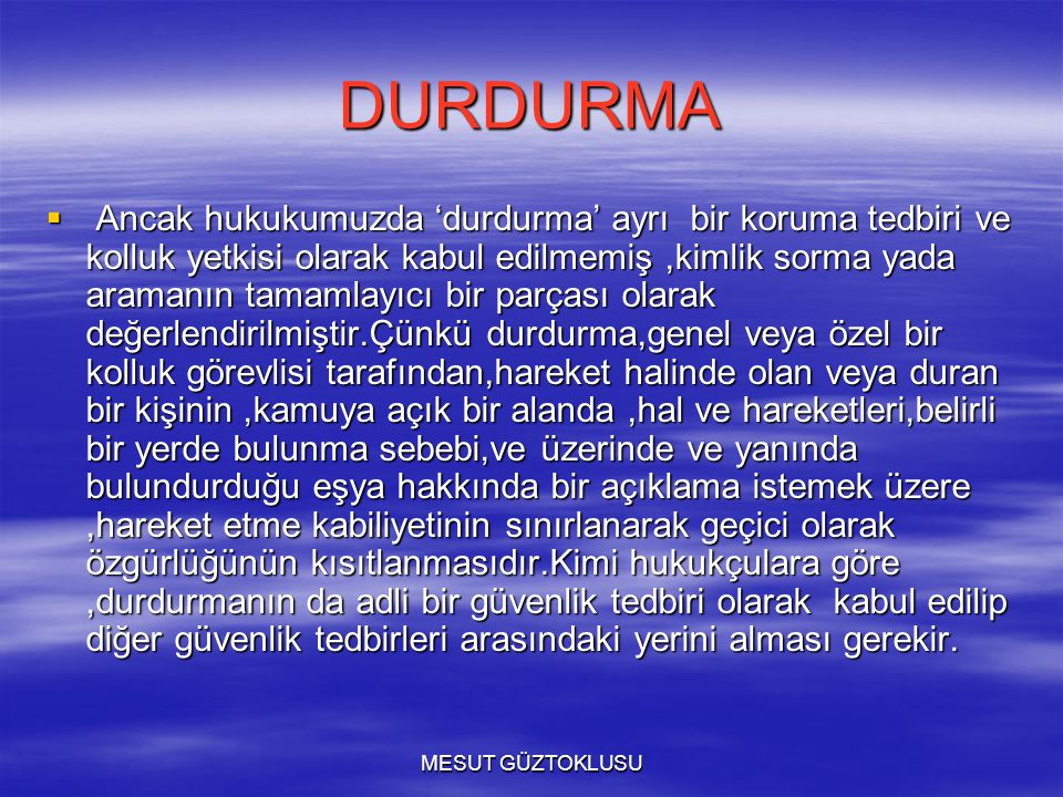 DURDURMA