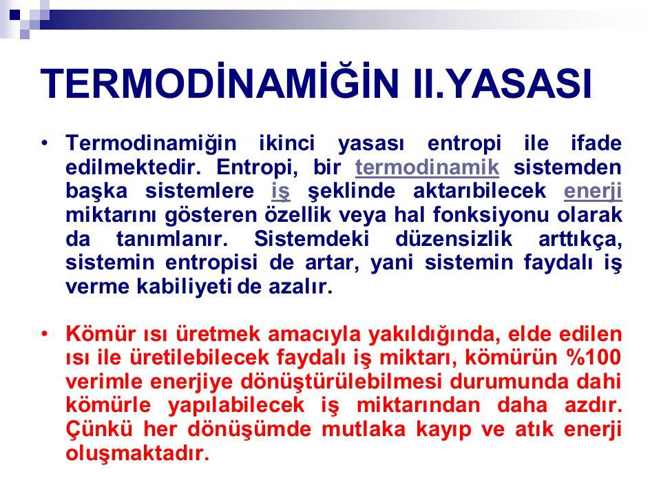 TERMODİNAMİĞİN II.YASASI