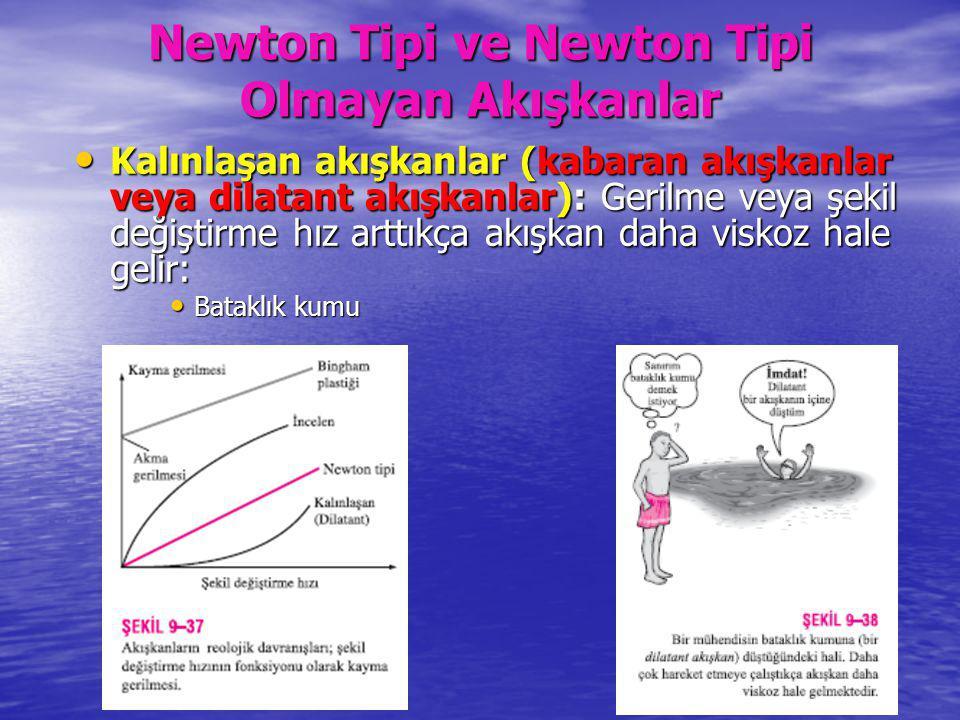 Newton Tipi ve Newton Tipi Olmayan Akışkanlar