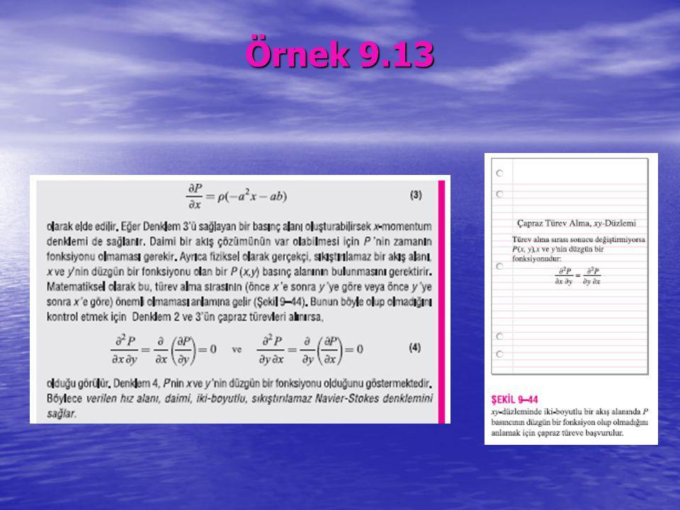 Örnek 9.13