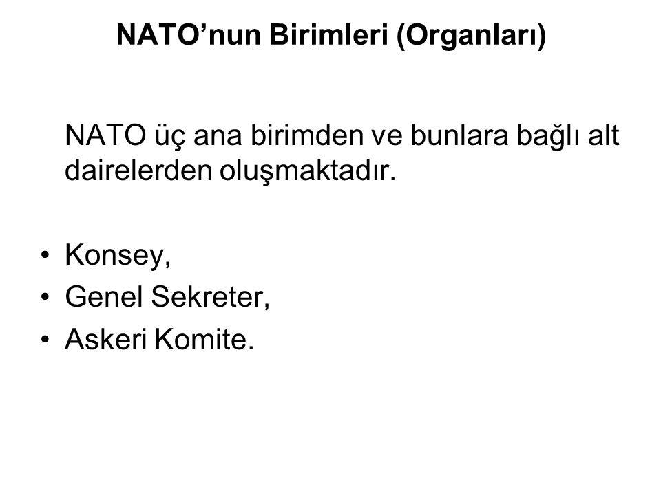 NATO'nun Birimleri (Organları)