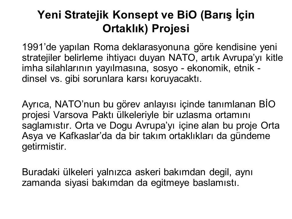 Yeni Stratejik Konsept ve BiO (Barış İçin Ortaklık) Projesi