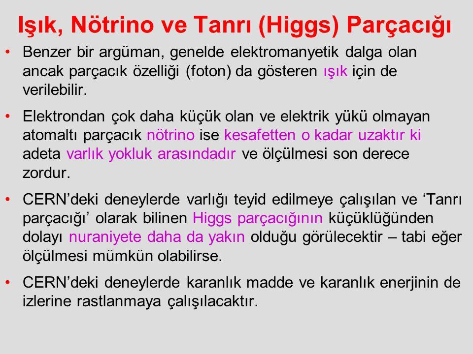 Işık, Nötrino ve Tanrı (Higgs) Parçacığı