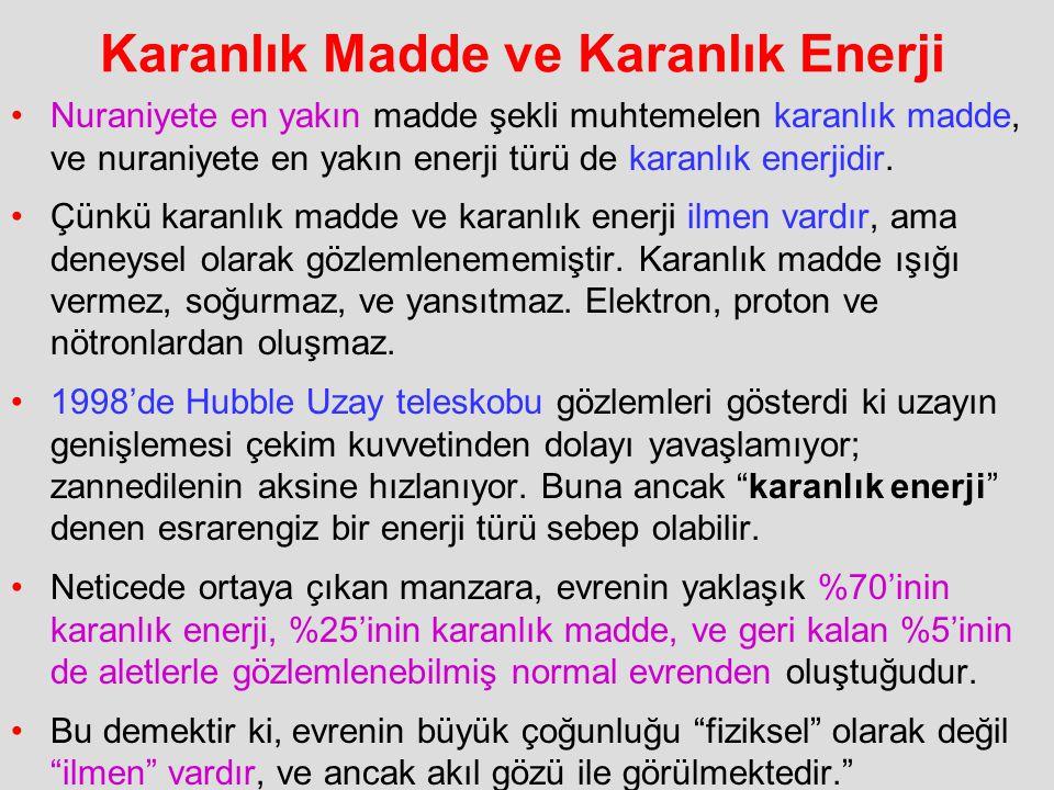 Karanlık Madde ve Karanlık Enerji