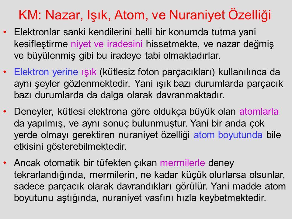 KM: Nazar, Işık, Atom, ve Nuraniyet Özelliği
