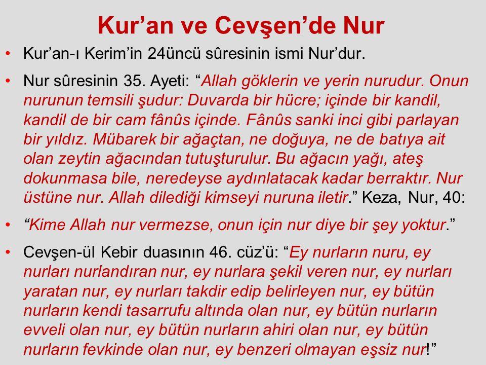 Kur'an ve Cevşen'de Nur