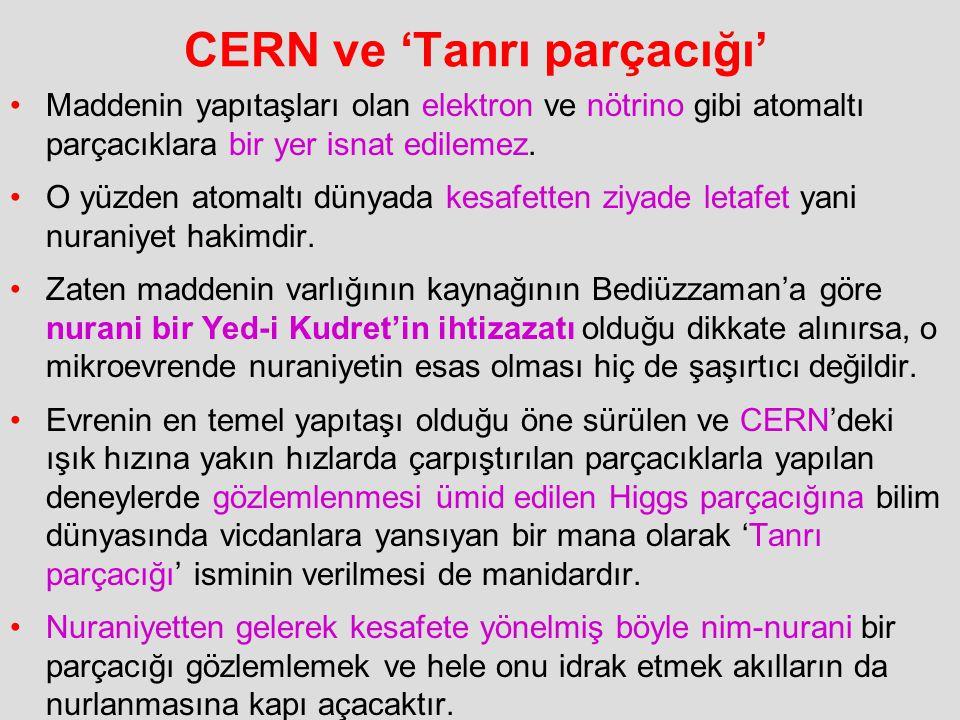 CERN ve 'Tanrı parçacığı'