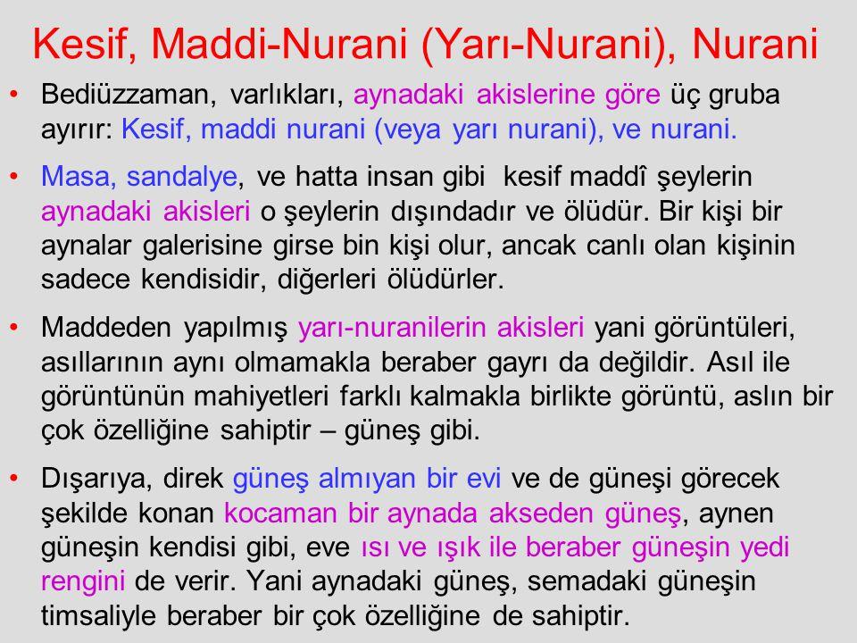 Kesif, Maddi-Nurani (Yarı-Nurani), Nurani