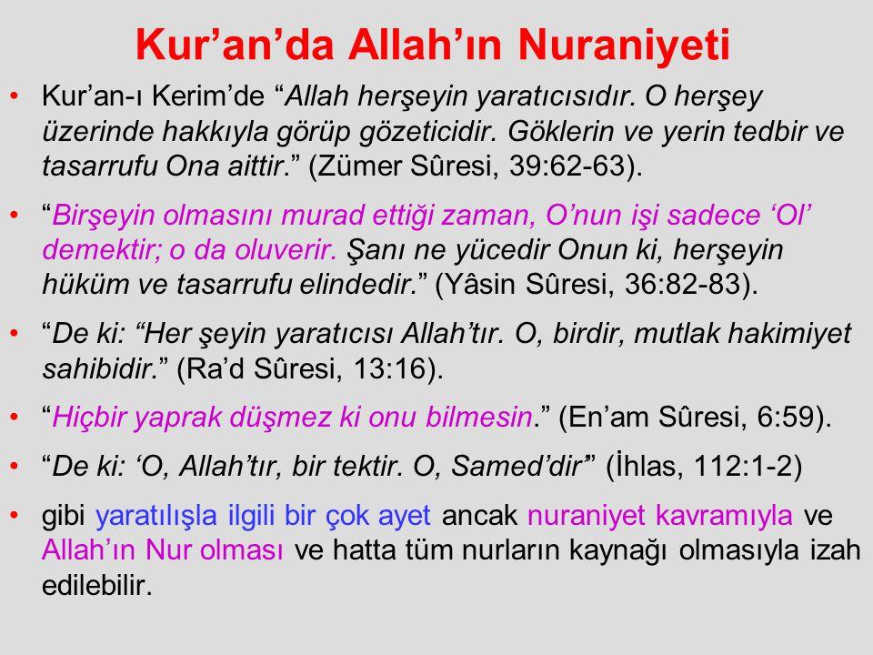 Kur'an'da Allah'ın Nuraniyeti