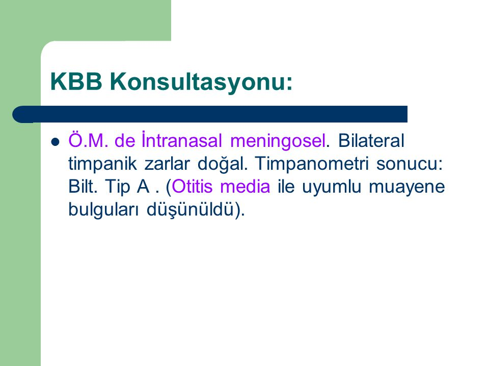 KBB Konsultasyonu: