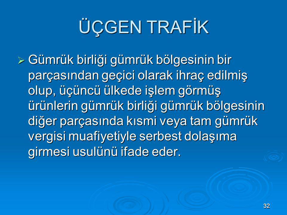 ÜÇGEN TRAFİK