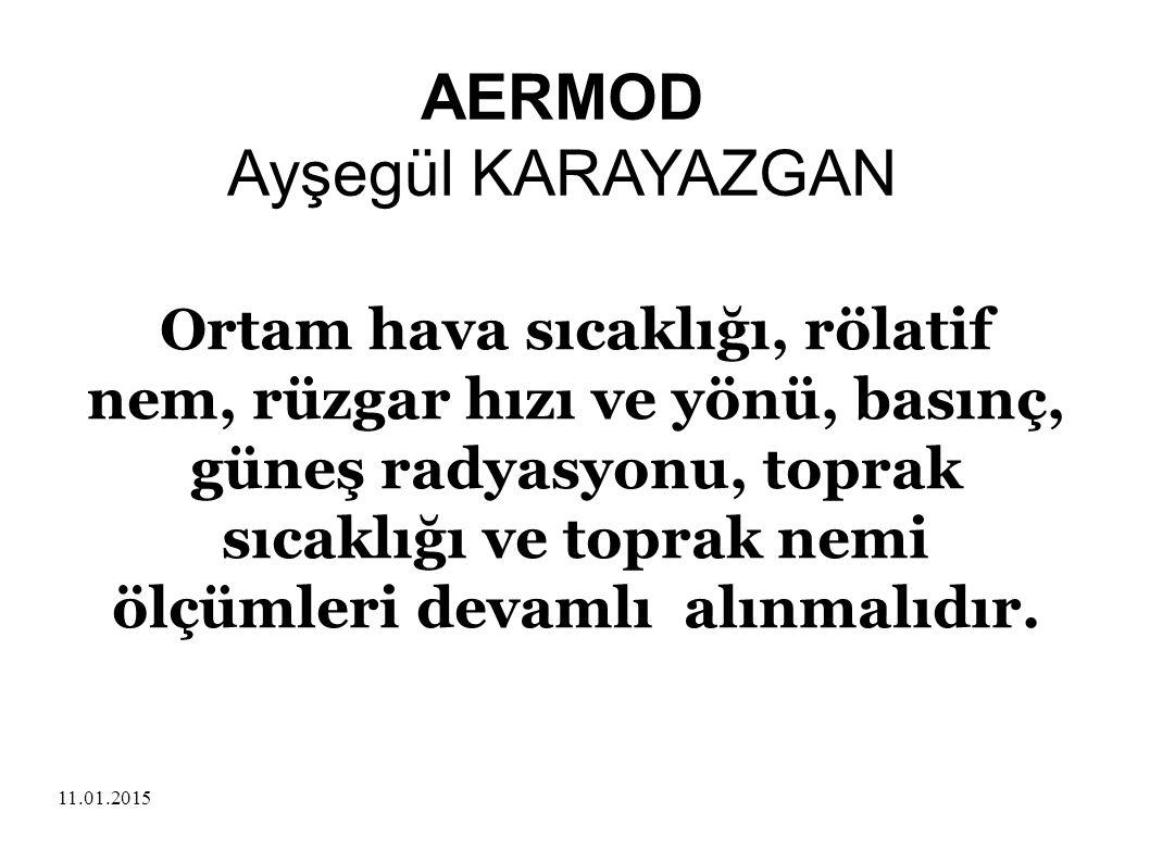 AERMOD Ayşegül KARAYAZGAN