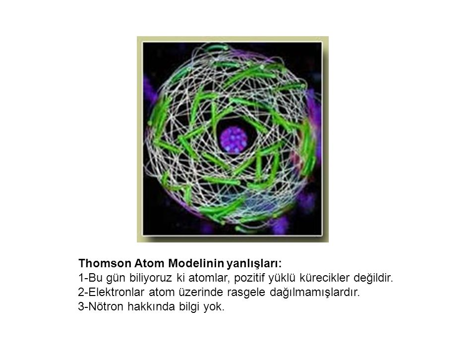Thomson Atom Modelinin yanlışları: