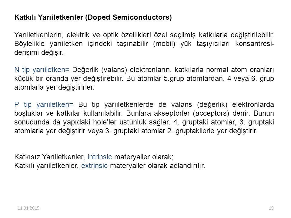 Katkılı Yarıiletkenler (Doped Semiconductors)