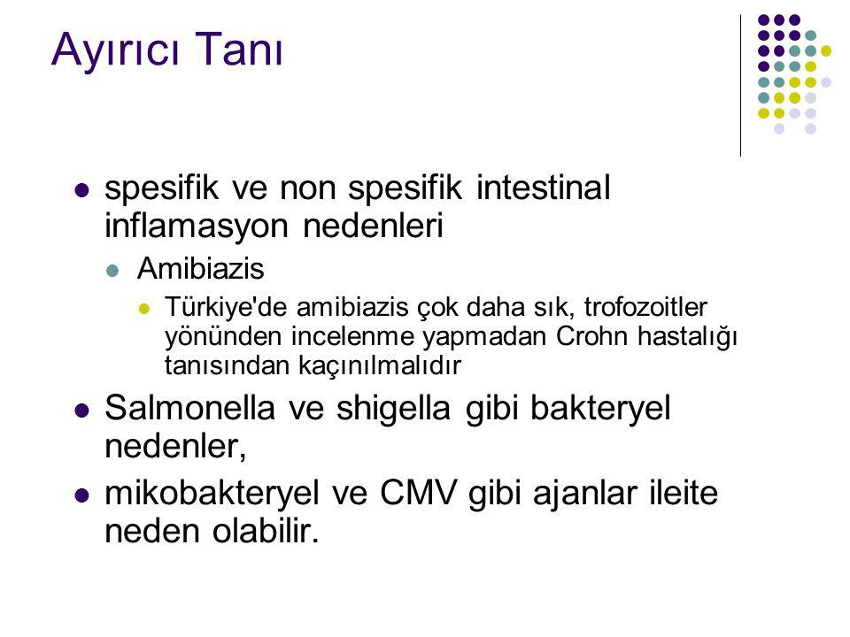 Ayırıcı Tanı spesifik ve non spesifik intestinal inflamasyon nedenleri