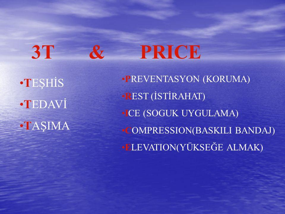 3T & PRICE TEŞHİS TEDAVİ TAŞIMA PREVENTASYON (KORUMA) REST (İSTİRAHAT)