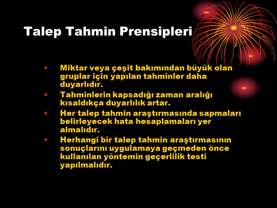 Talep Tahmin Prensipleri