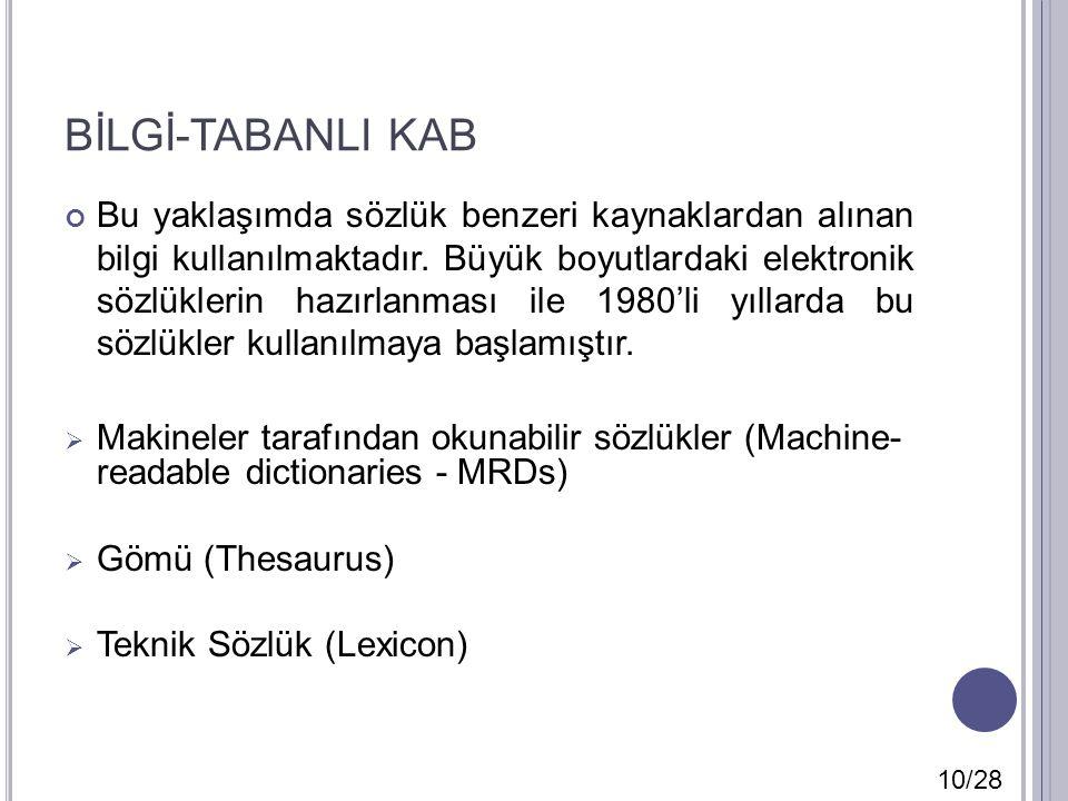 BİLGİ-TABANLI KAB