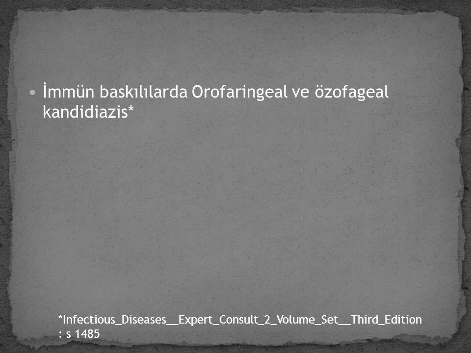 İmmün baskılılarda Orofaringeal ve özofageal kandidiazis*