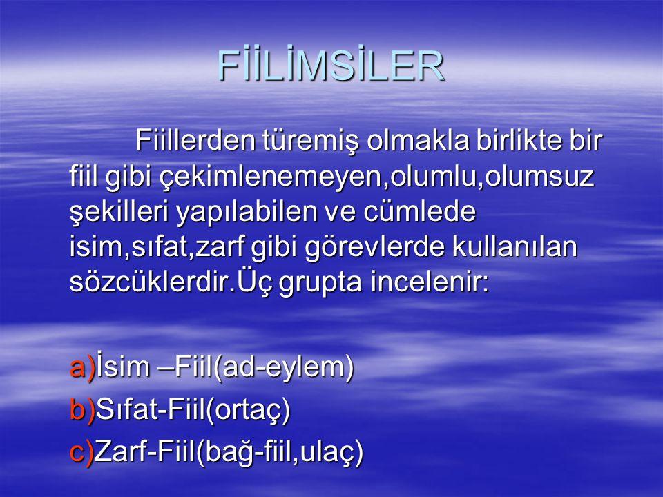 FİİLİMSİLER