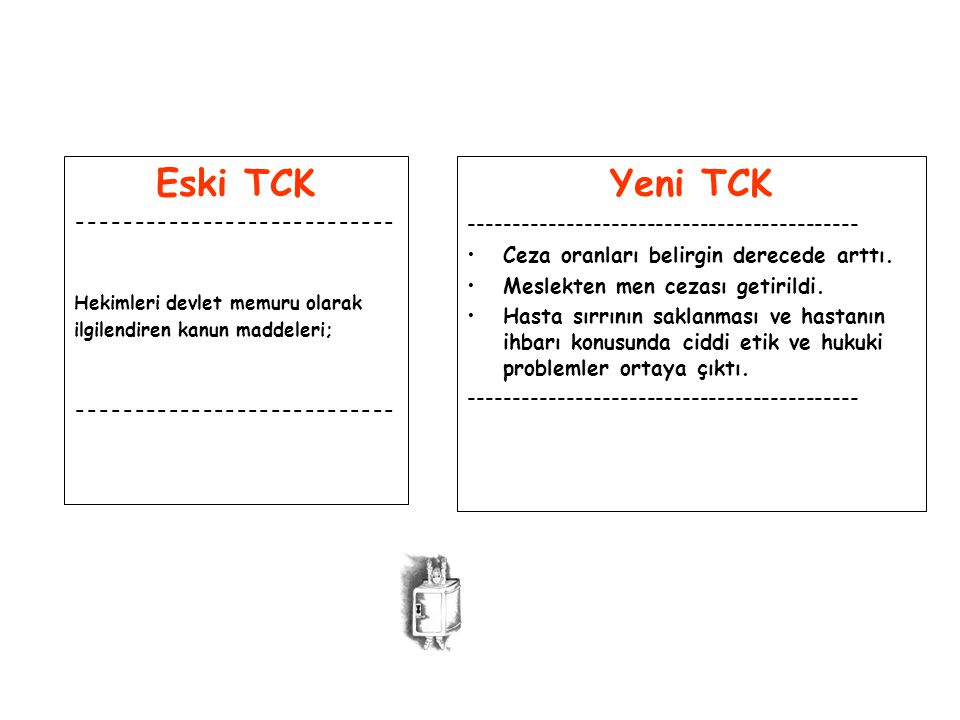 Eski TCK Yeni TCK --------------------------------------------