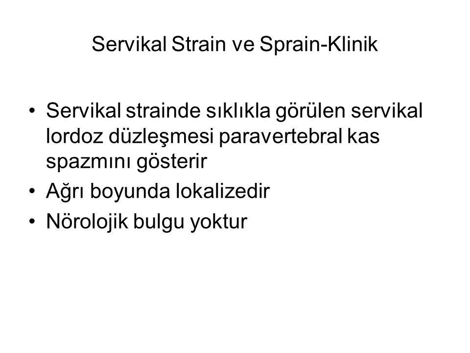 Servikal Strain ve Sprain-Klinik