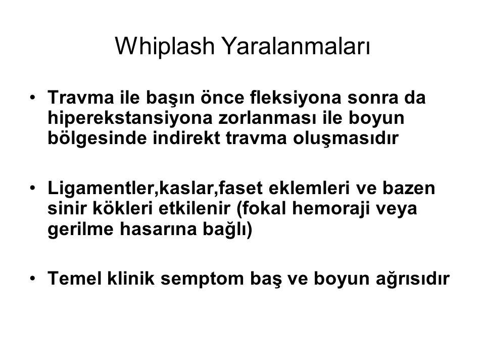 Whiplash Yaralanmaları