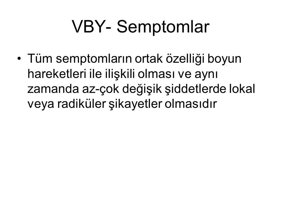 VBY- Semptomlar
