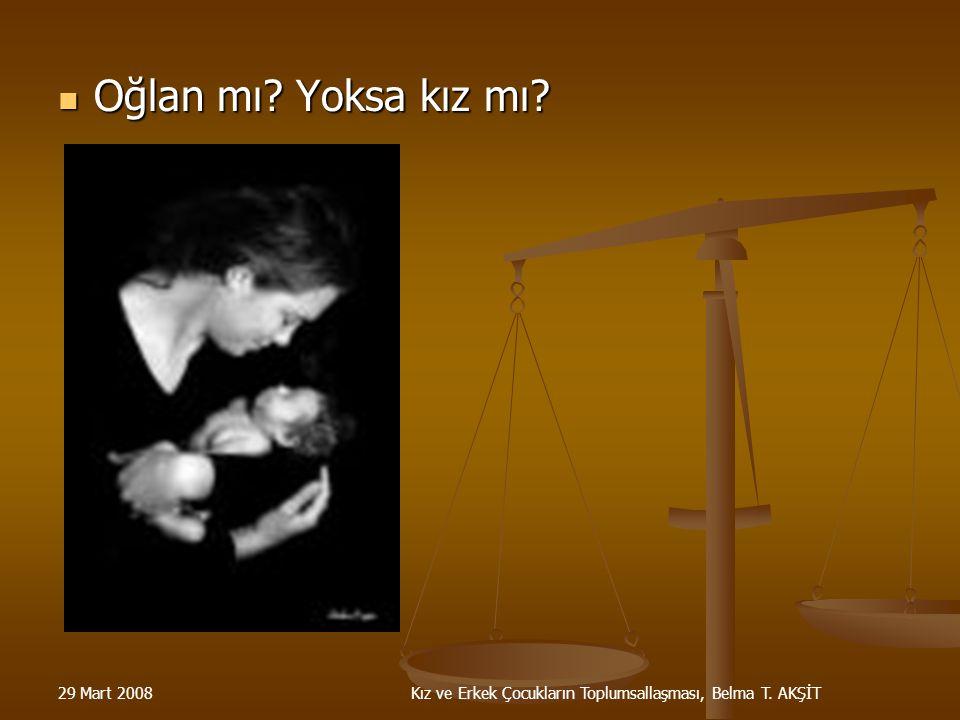 Kız ve Erkek Çocukların Toplumsallaşması, Belma T. AKŞİT