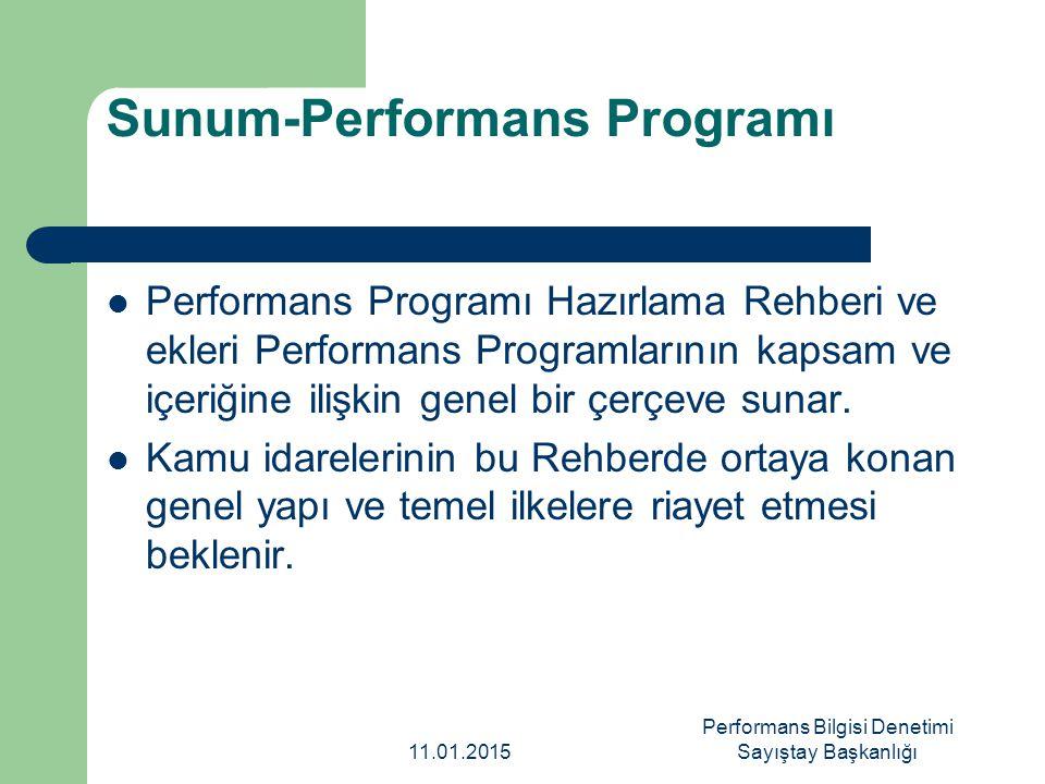 Sunum-Performans Programı