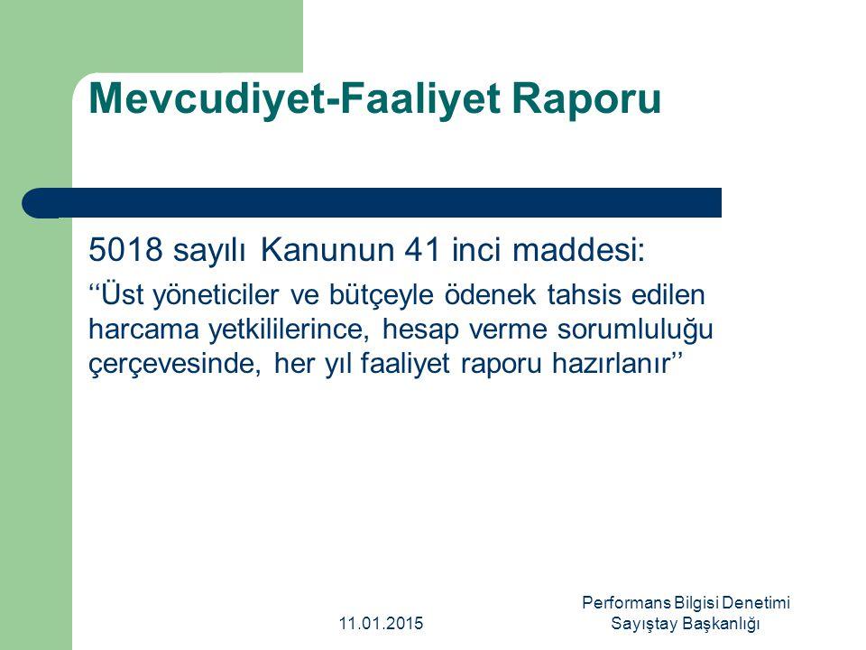 Mevcudiyet-Faaliyet Raporu