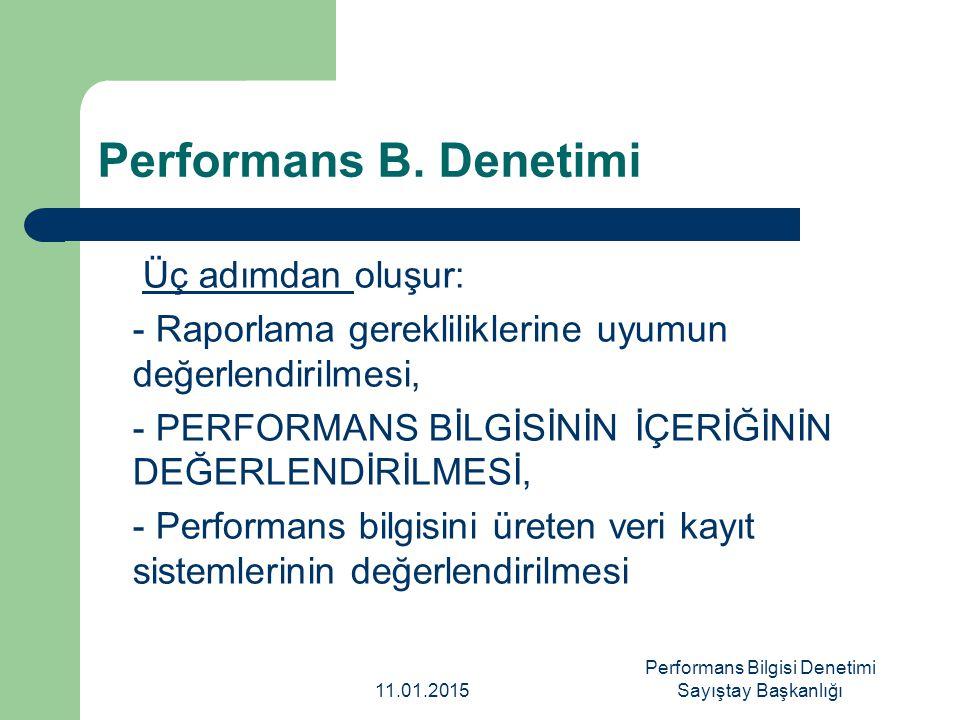 Performans Bilgisi Denetimi Sayıştay Başkanlığı