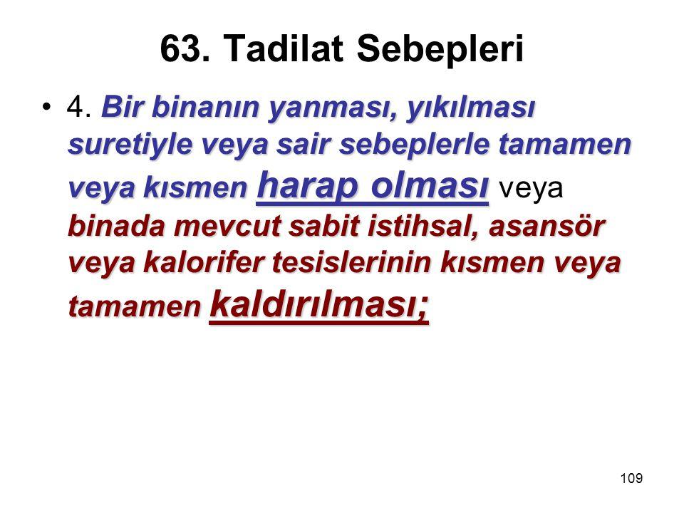63. Tadilat Sebepleri