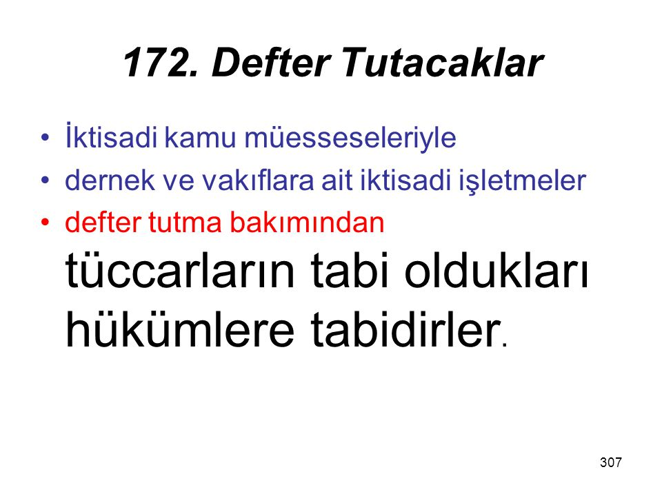 172. Defter Tutacaklar İktisadi kamu müesseseleriyle