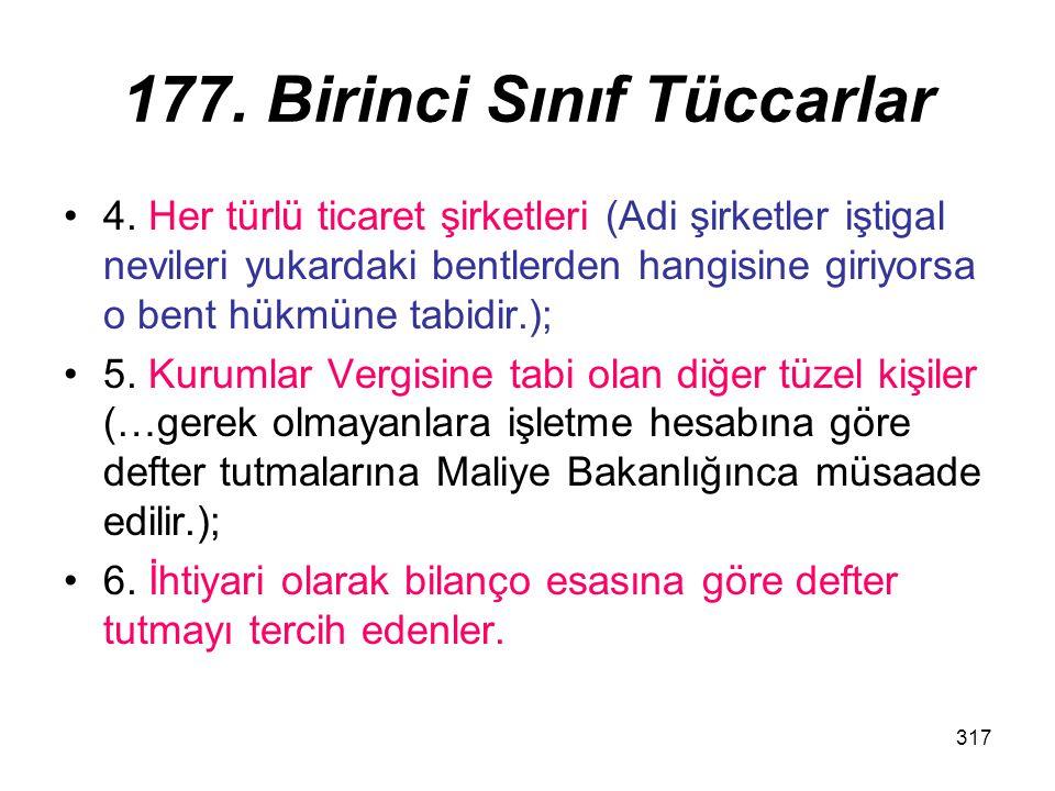 177. Birinci Sınıf Tüccarlar