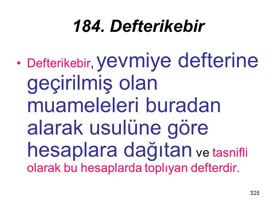 184. Defterikebir