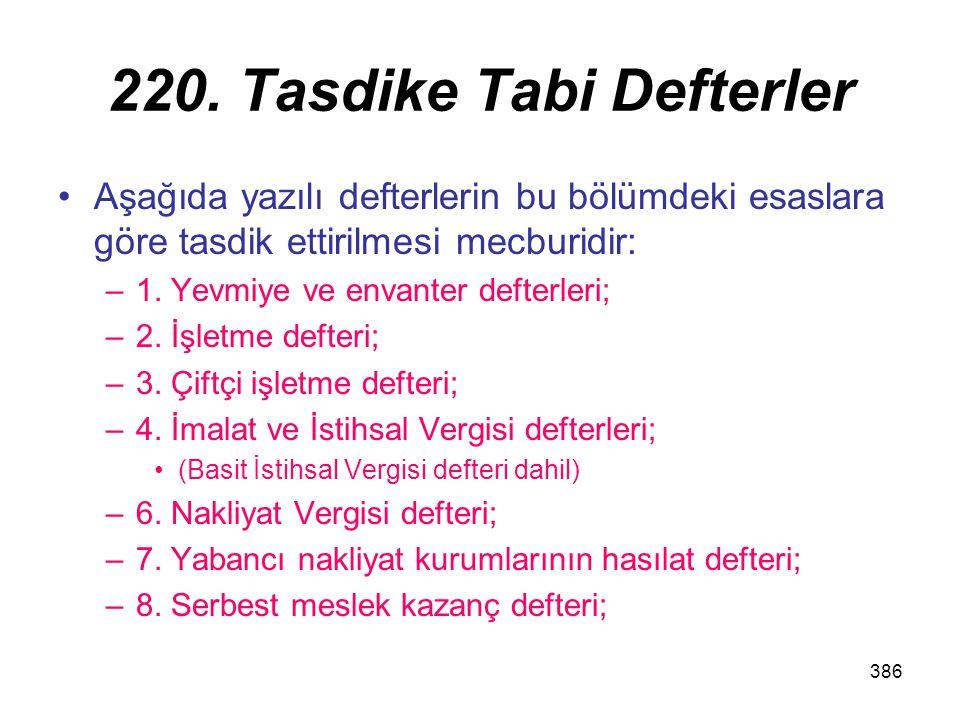 220. Tasdike Tabi Defterler