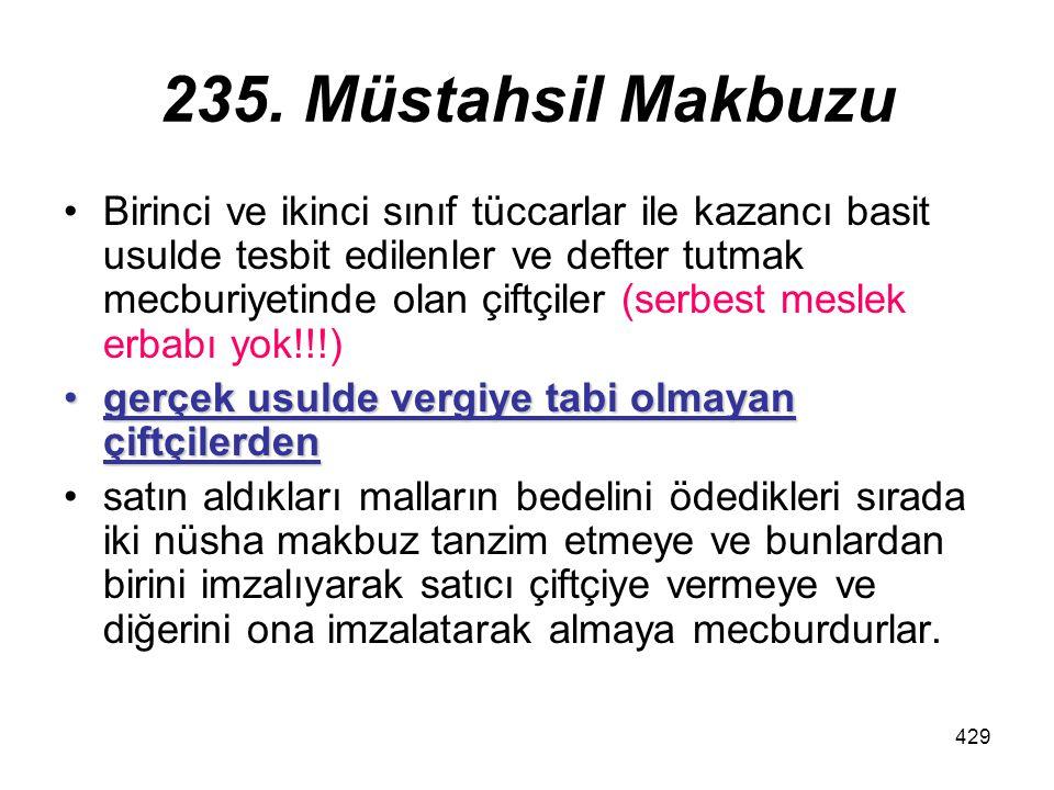 235. Müstahsil Makbuzu