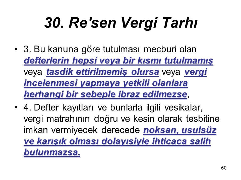 30. Re sen Vergi Tarhı