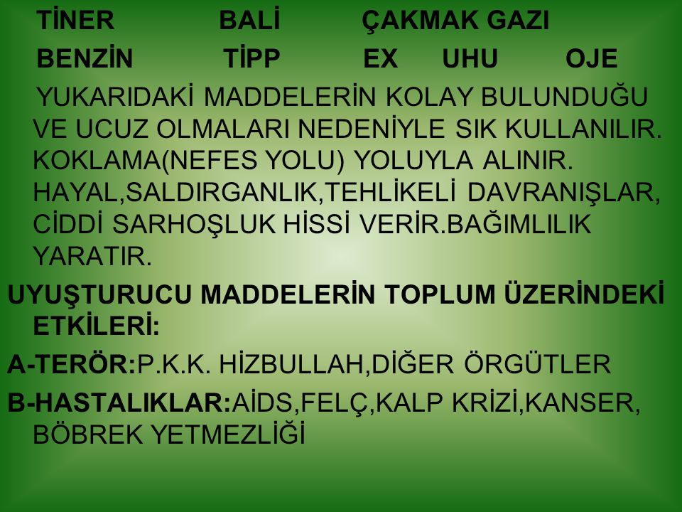 TİNER BALİ ÇAKMAK GAZI BENZİN TİPP EX UHU OJE.