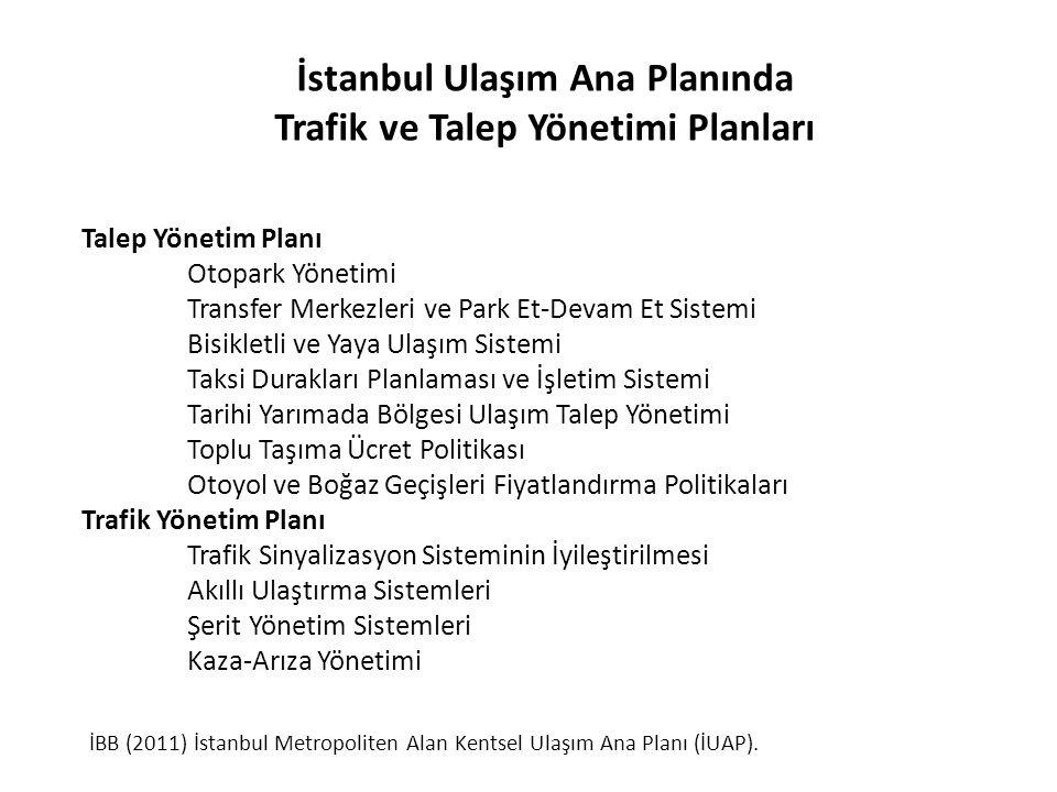 İstanbul Ulaşım Ana Planında Trafik ve Talep Yönetimi Planları