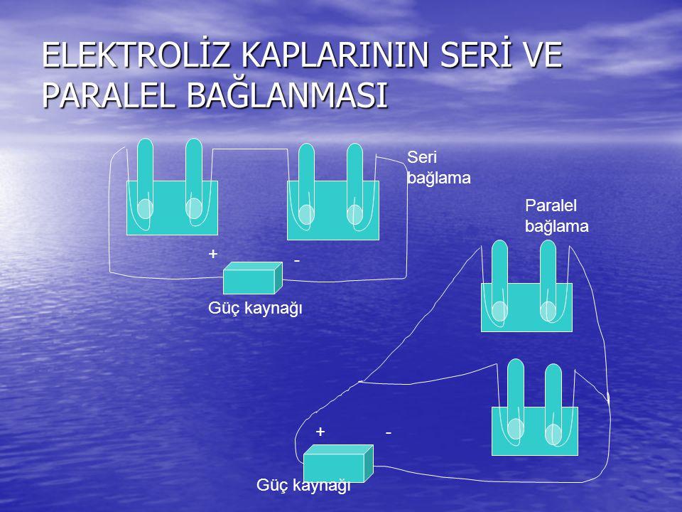 ELEKTROLİZ KAPLARININ SERİ VE PARALEL BAĞLANMASI