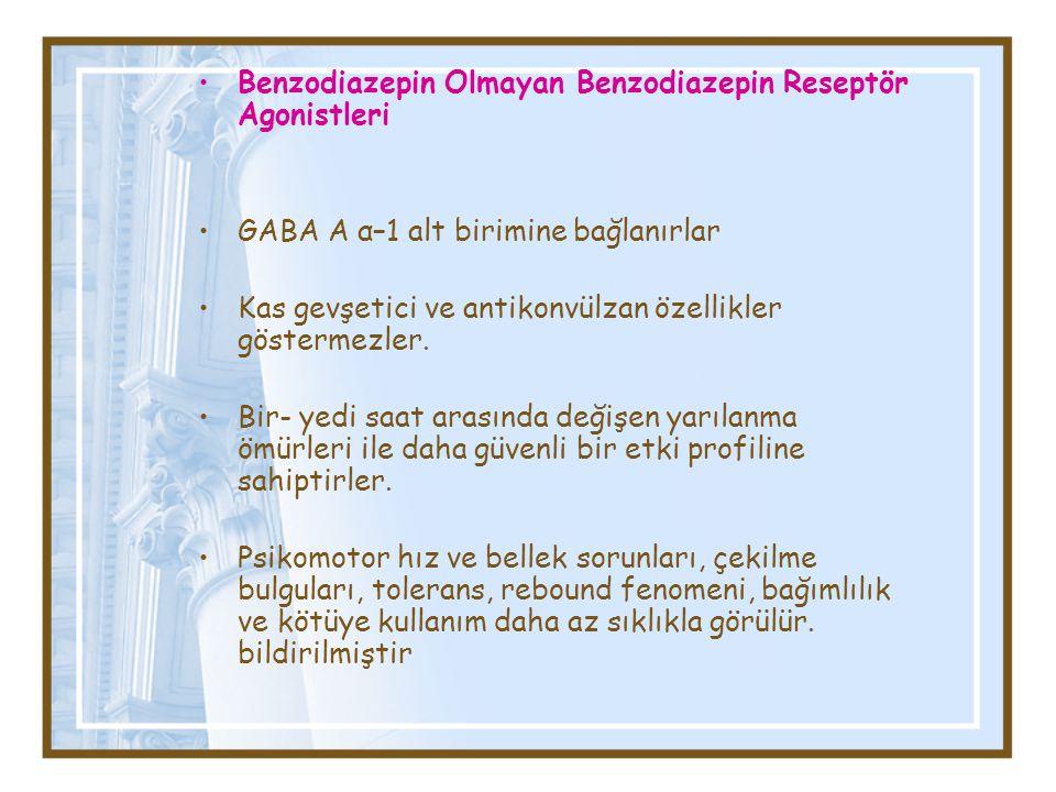 Benzodiazepin Olmayan Benzodiazepin Reseptör Agonistleri