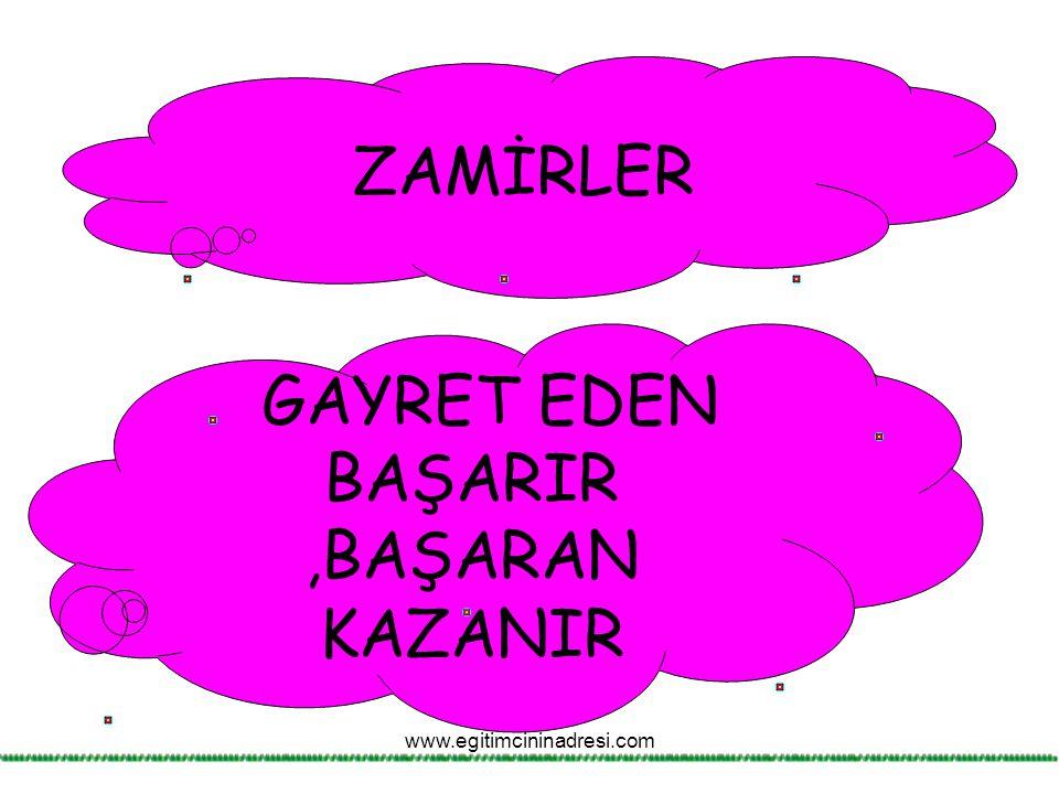 GAYRET EDEN BAŞARIR ,BAŞARAN KAZANIR
