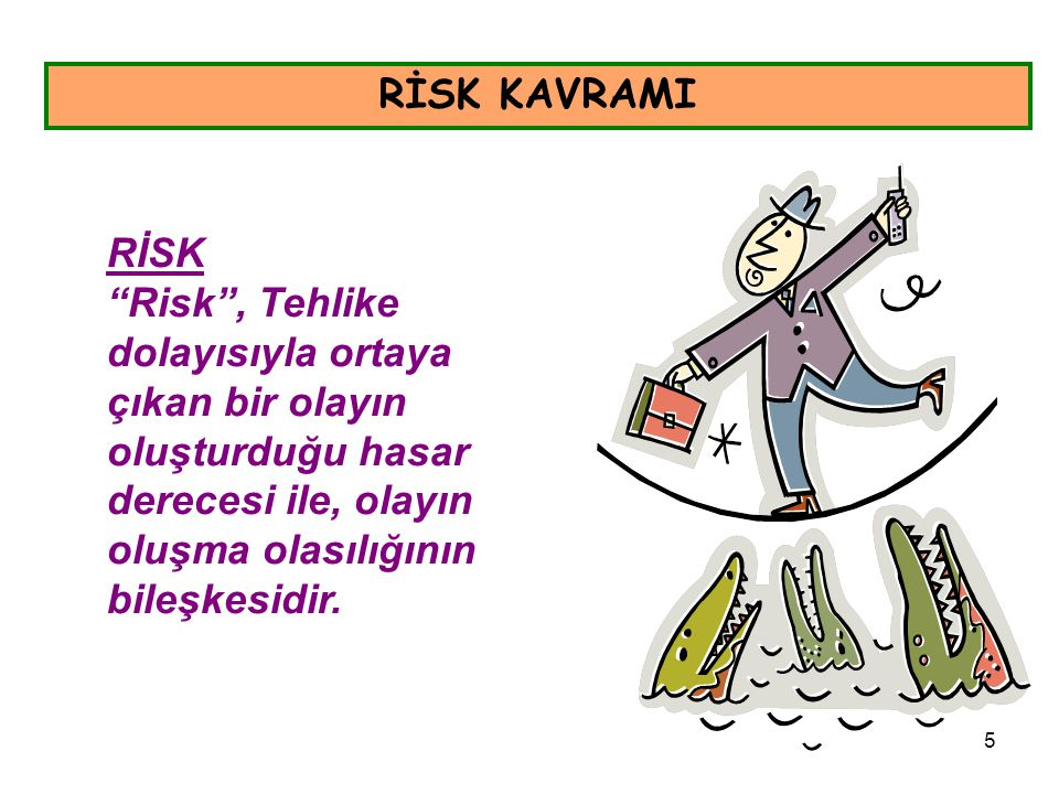 RİSK KAVRAMI RİSK.