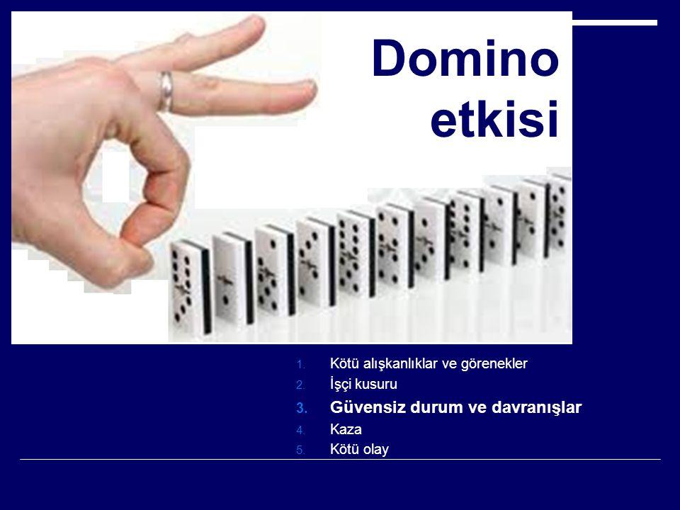 Domino etkisi Güvensiz durum ve davranışlar