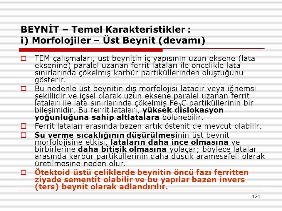 BEYNİT – Temel Karakteristikler : i) Morfolojiler – Üst Beynit (devamı)